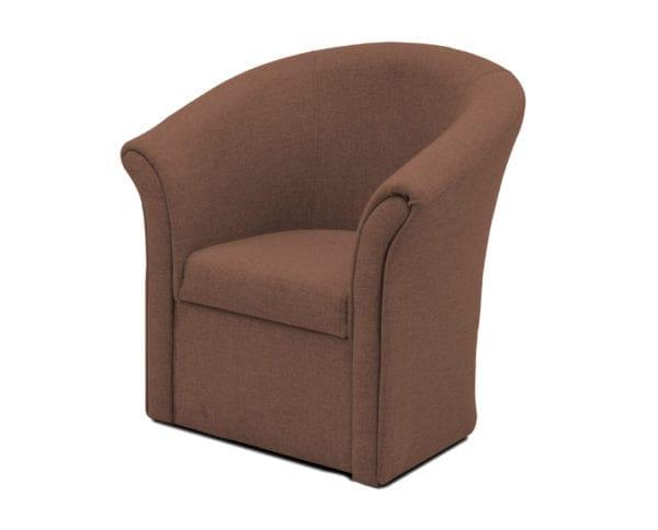 Fotelja POTKOVICA X Kakao