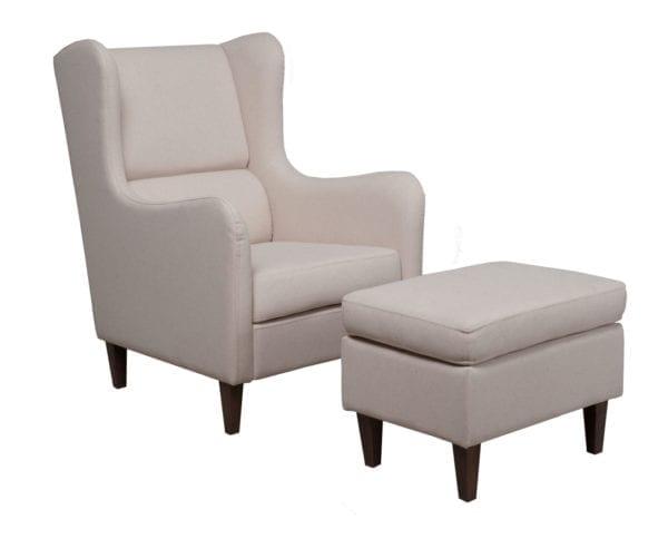 Fotelja i tabure GRAZIA I Bež