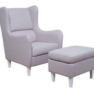 Fotelja i tabure GRAZIA II Sivo