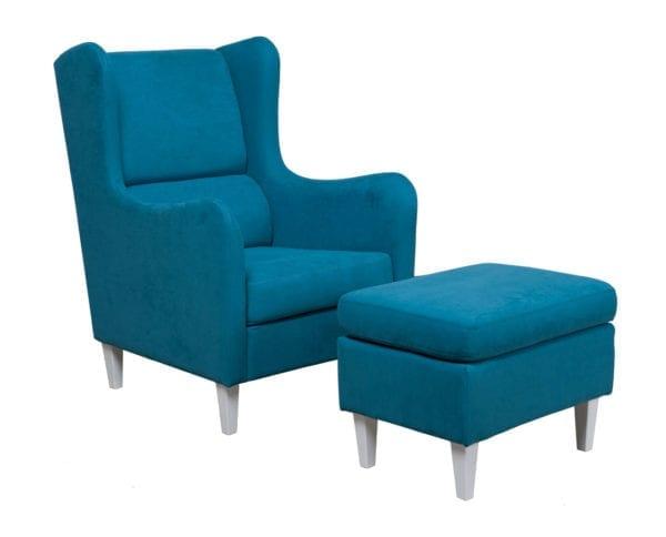 Fotelja i tabure GRAZIA III Tirkiz