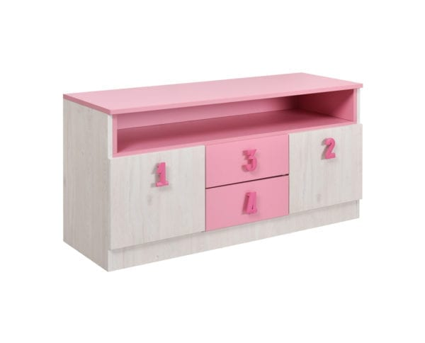 Numero TV Komoda Pink