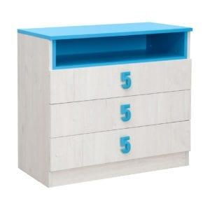 Numero Komoda 3F Plavo