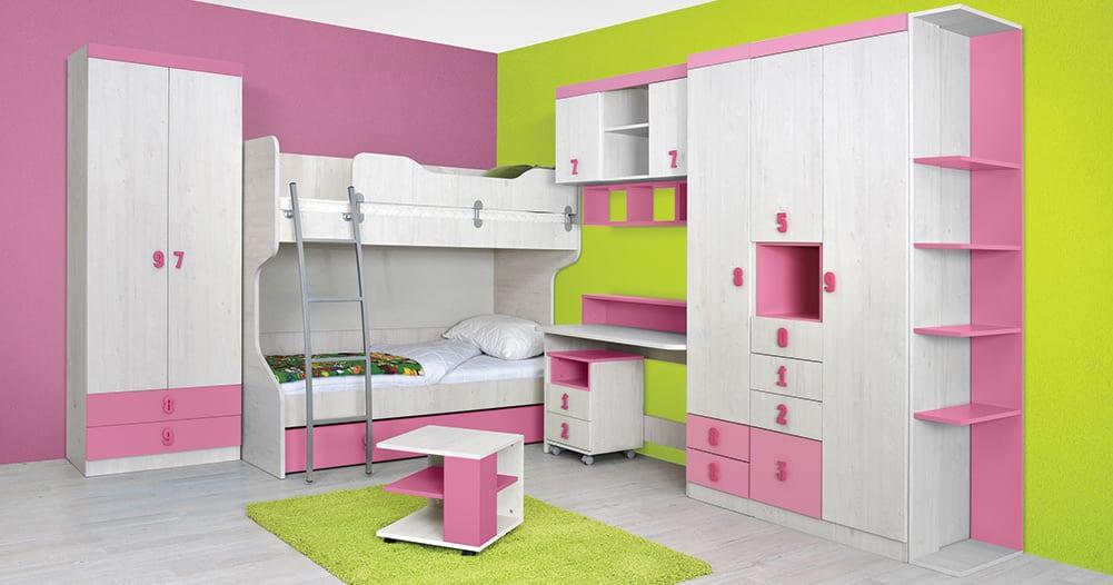 Dečija soba-Numero-Pink