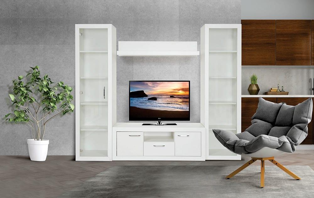 Dnevna soba-Wood-White